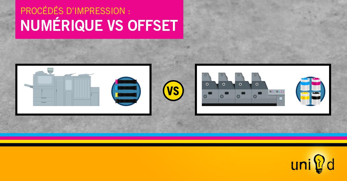 Procédés d'impression : différence entre su presse numérique et sous-presse (offset)