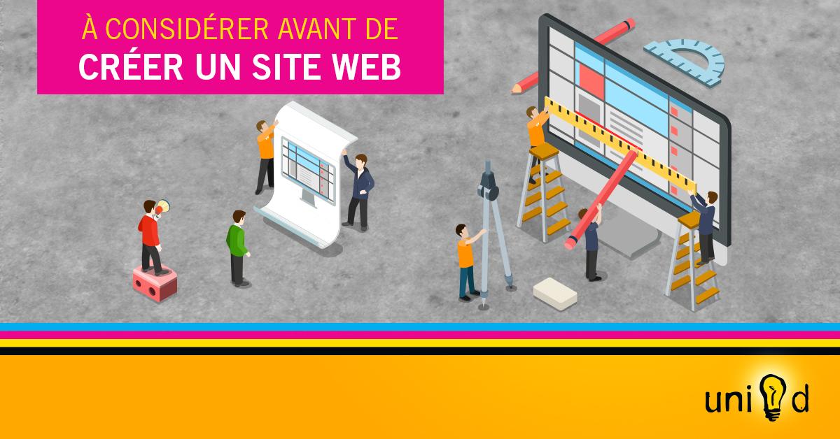 Uni-d - À considérer avant de créer un site web