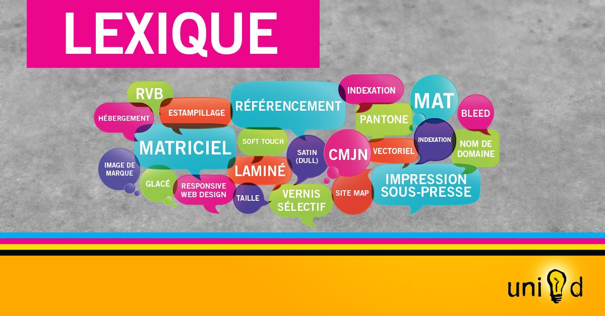 Uni-d - Lexique : graphisme, impresssion, web
