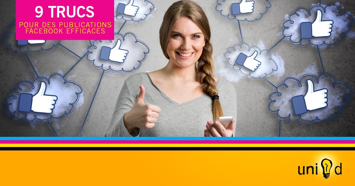9 trucs pour des publications Facebook efficaces