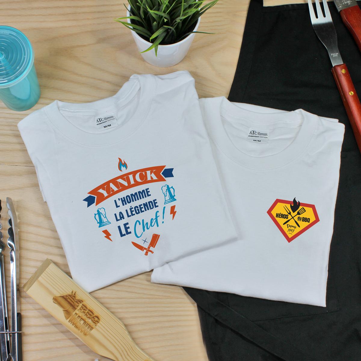 t-shirt en coton personnalisé pour BBQ