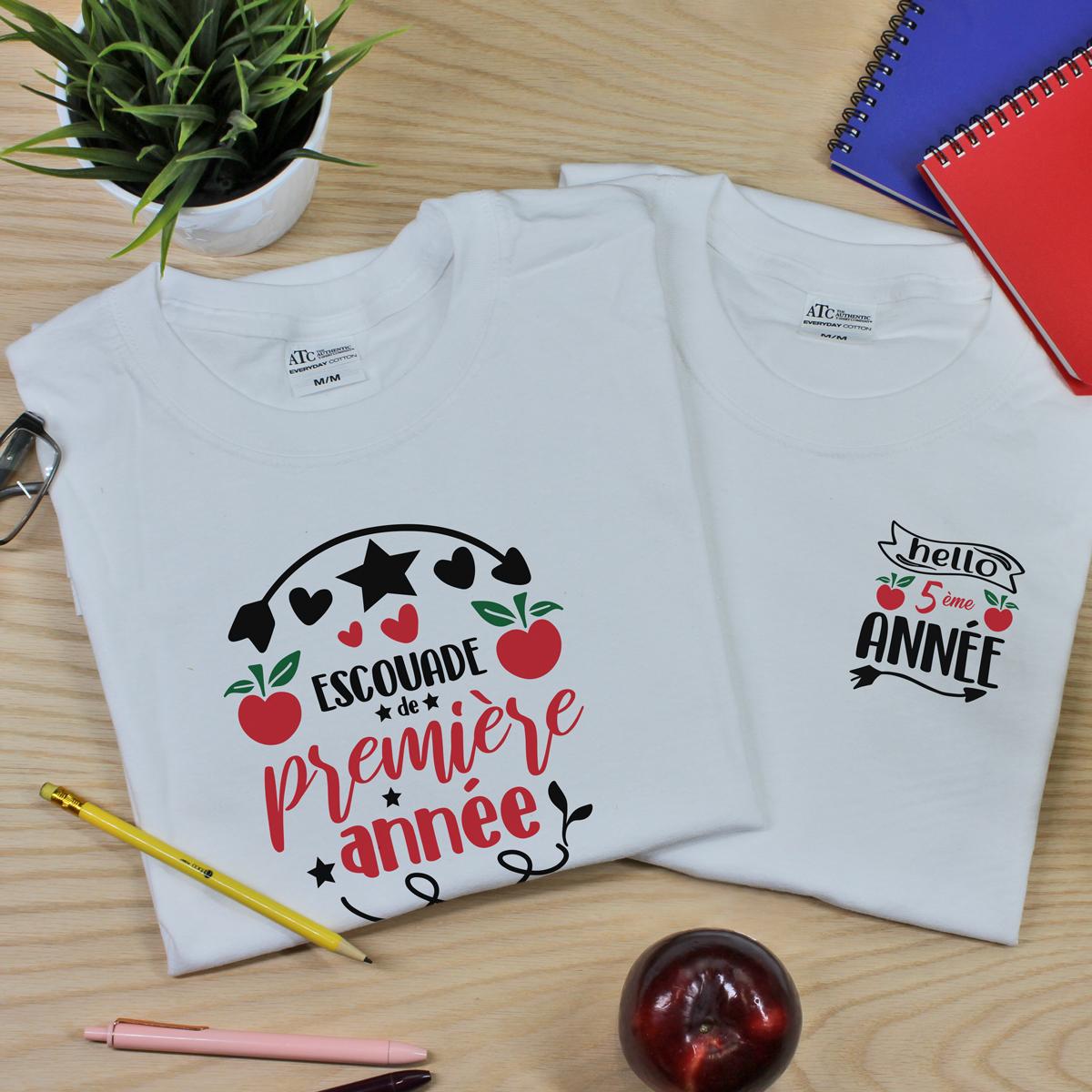 t-shirt blanc en coton pour professeur(e) - enseignant(e)