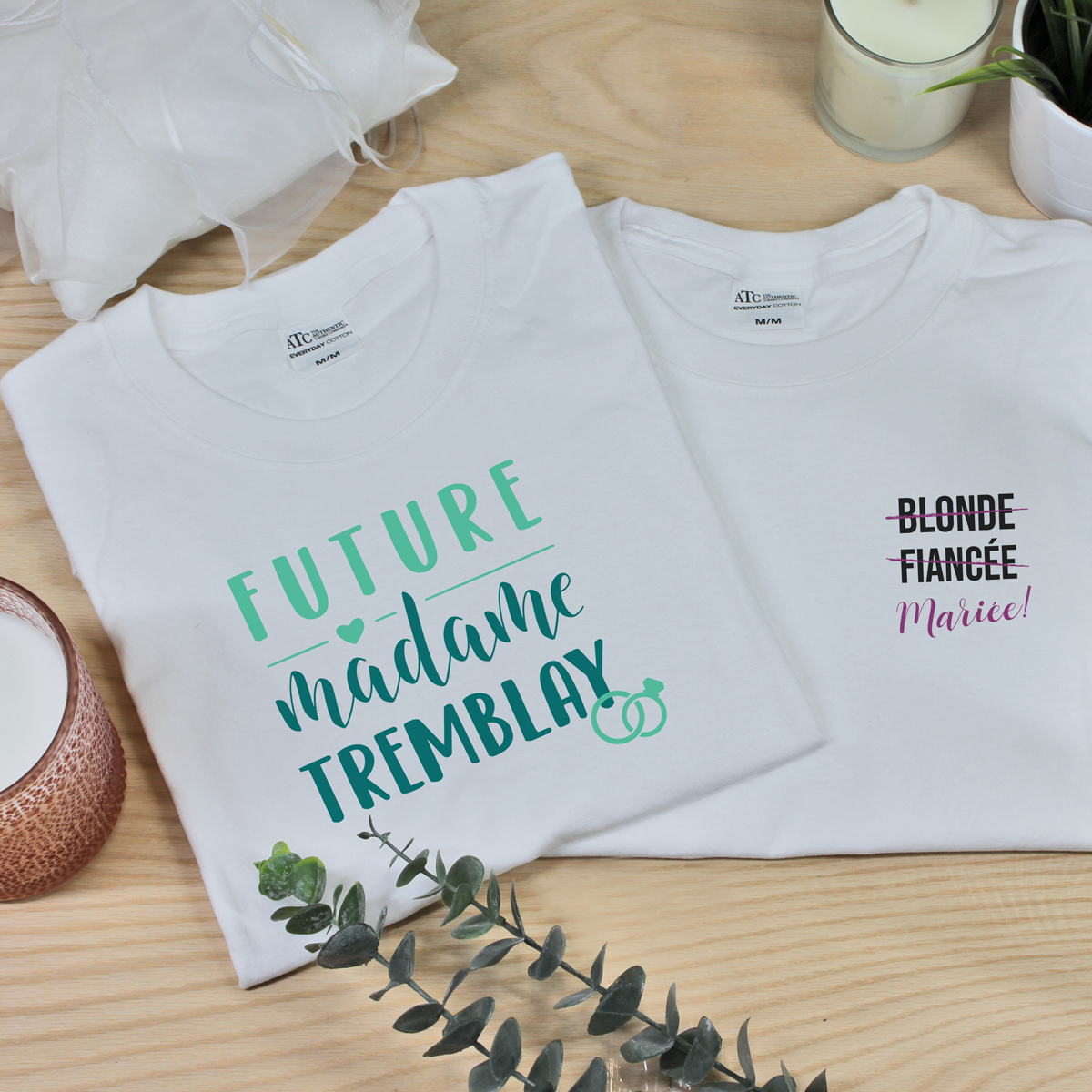 t-shirt personnalise - future mariee