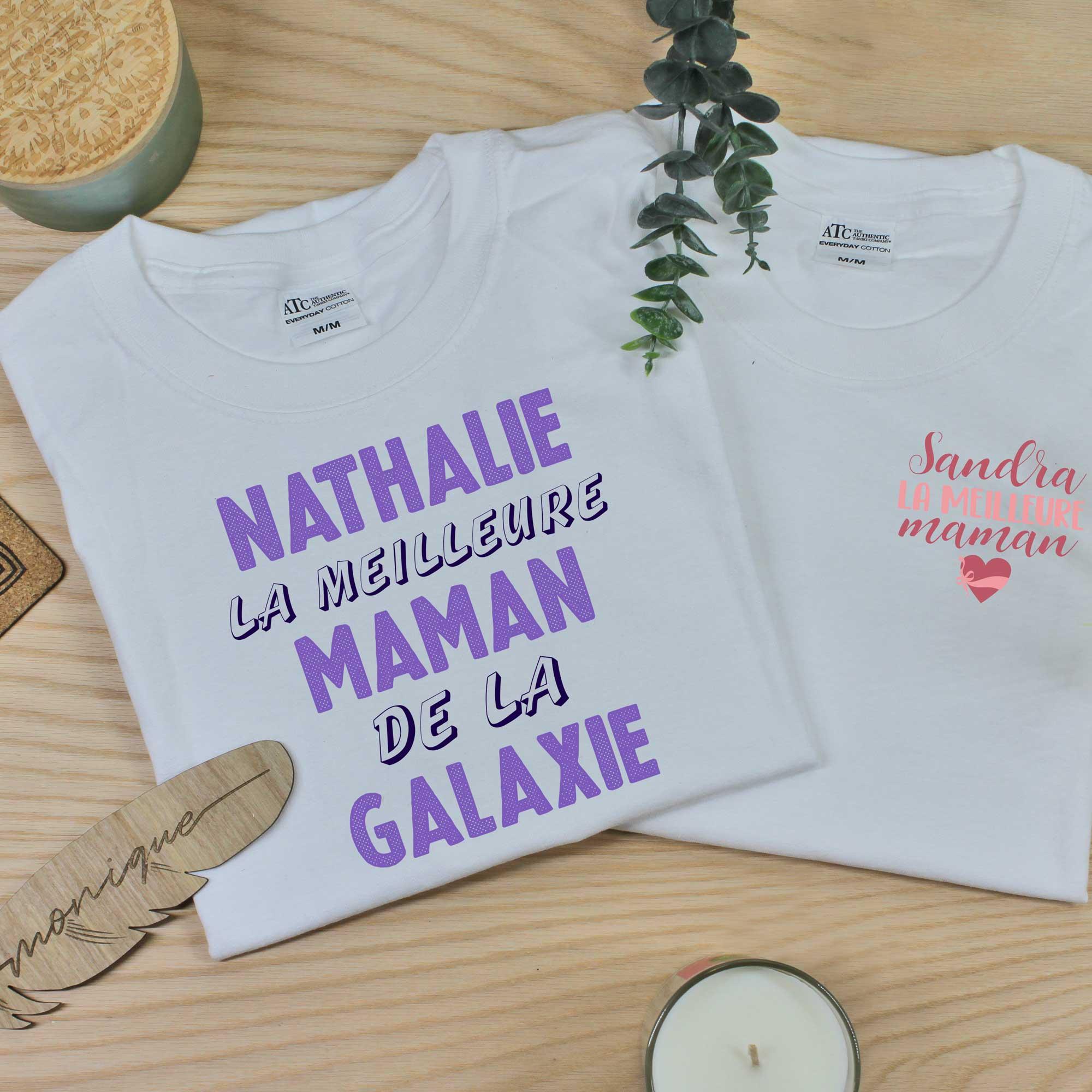 T-shirt personnalisé 100% coton pour les mamans et la fête des Mères.