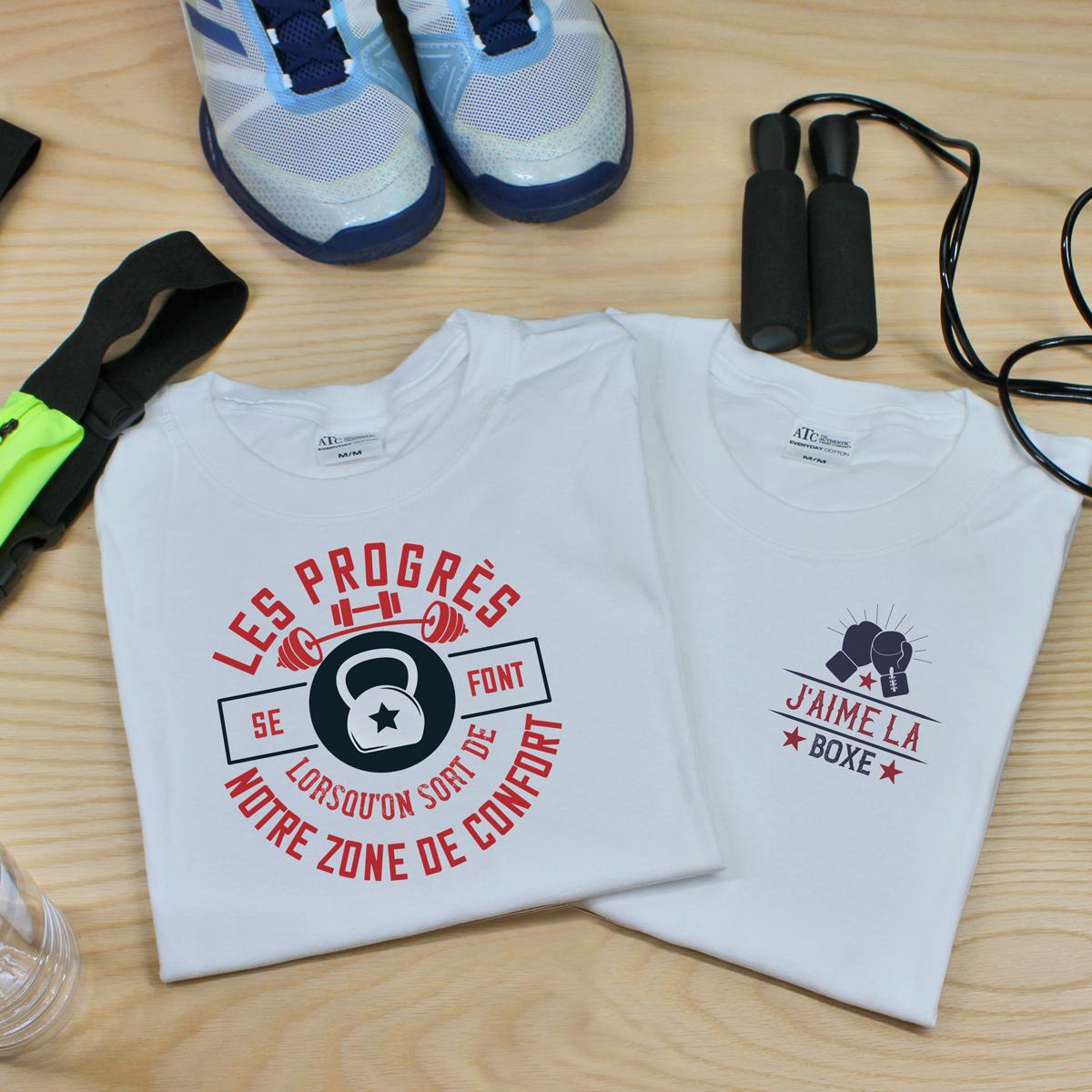 t-shirt en coton personnalisé pour le sport