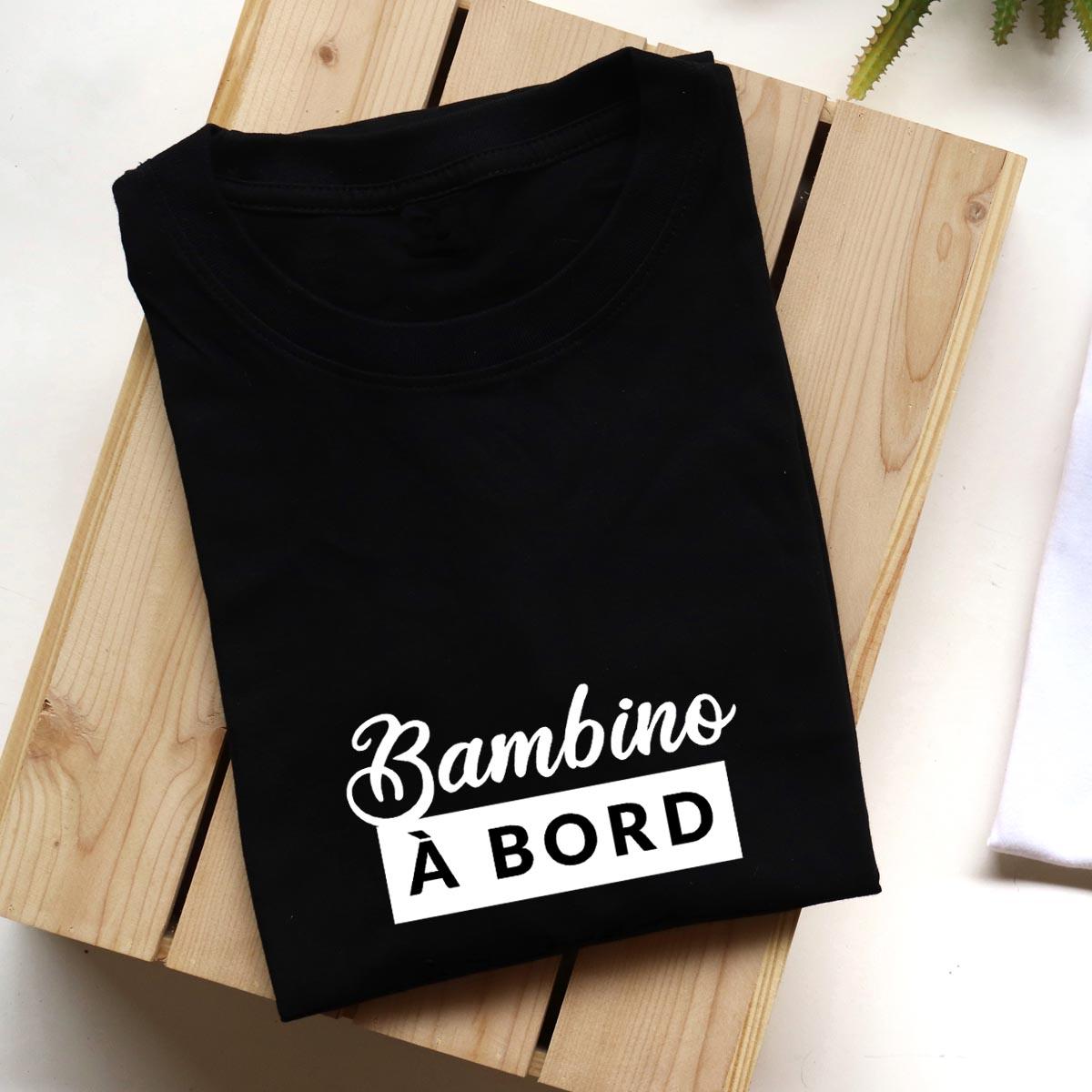 t-shirt noir en coton pour femme enceinte