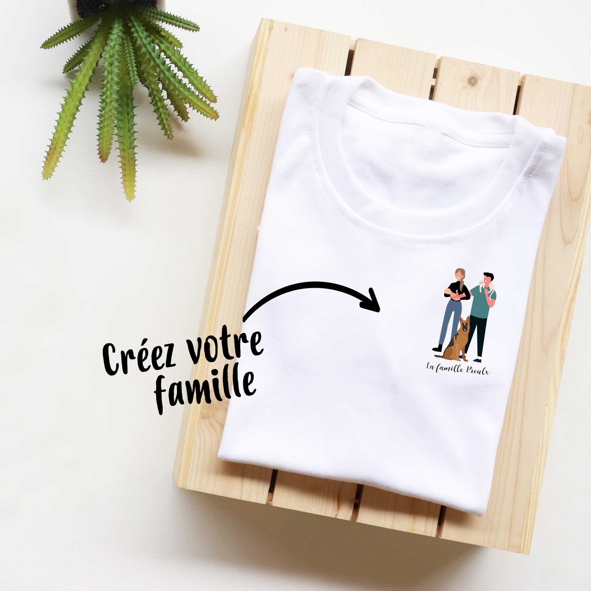 t-shirt de famille personnalisable - t-shirt 100 % coton
