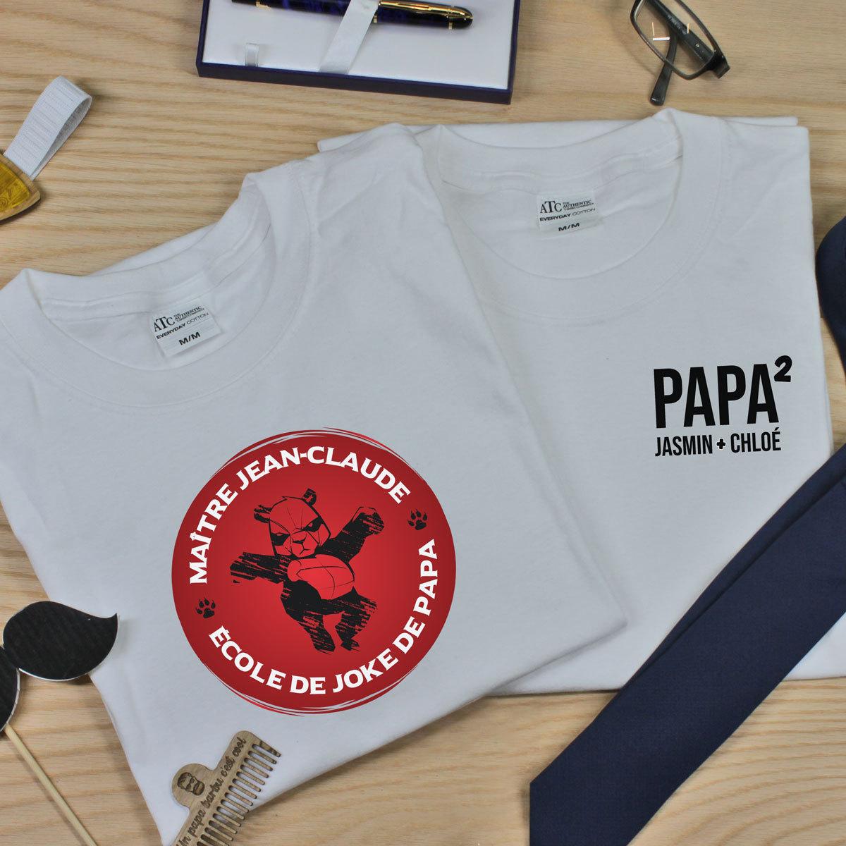 t-shirt en coton pour les papas - offrir en cadeau et fête des Pères