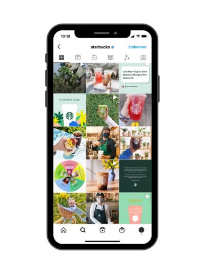 Exemple de feed Instagram Photographies - Exemple du Starbucks
